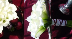 White calla bridal bouquet