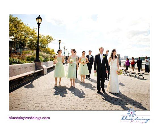 Battery Gardens Restaurant bride and groom