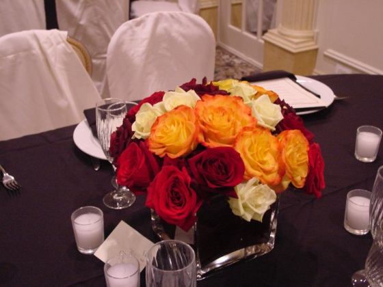 Orange and Brown Centerpiece