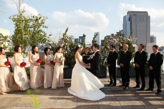 Wedding ceremony at Tribeca Rooftop