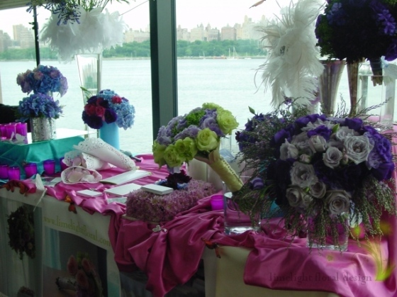 This is the purple lavander section of the table.