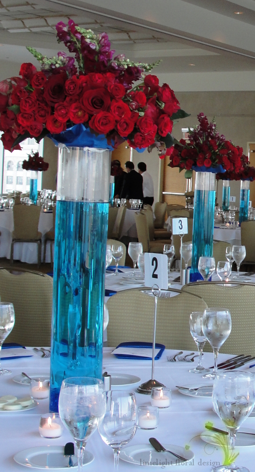 here 39s a reception look with the red white blue centerpiece from