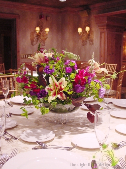 Green centerpiece wedding