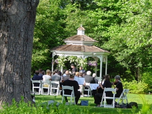 garden wedding gazebo ceremony