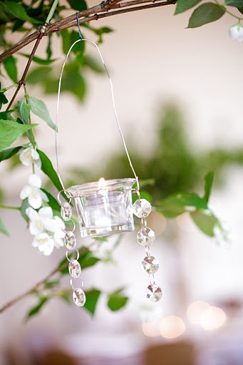 Branch Centerpiece with crystals