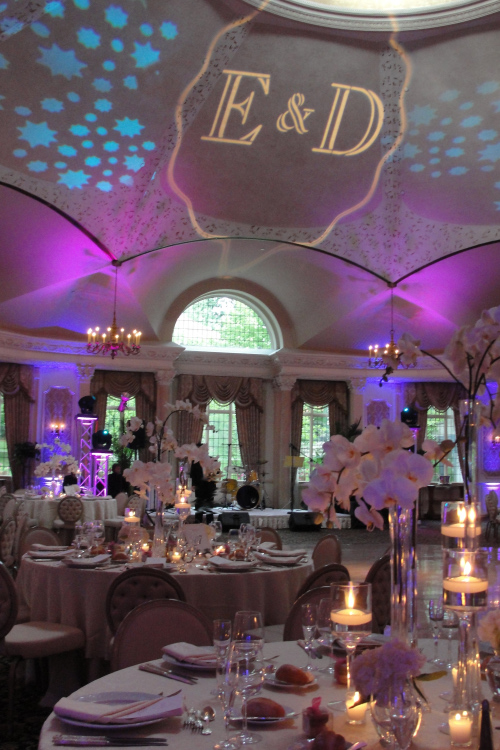 Wedding centerpieces with orchids