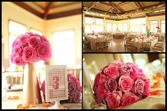 pink orange and gol indian wedding