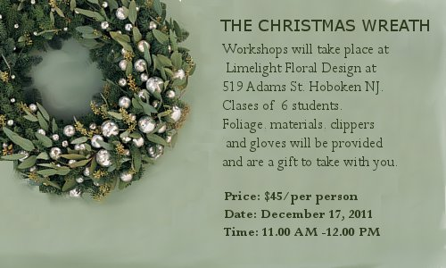 Christmas Wreath Class Hoboken