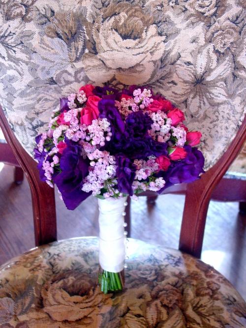 Purple and Pink wedding flowers hoboken nj