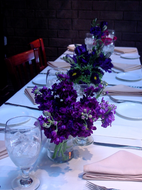 Purple flowers Wedding NJ