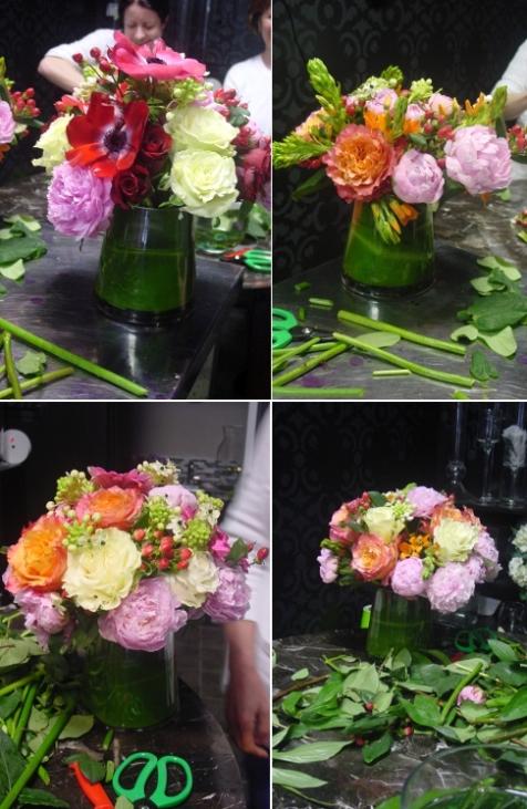 Floral Arrangements from Glorious Peonies class Hoboken
