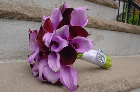 Lavender Calla Lilies wedding Maitime Parc  NJ Wedding Flowers Limelight Floral Design