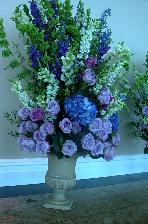 Edgewater waterside wedding large ceremony centerpiece  NJ Wedding Flowers Limelight Floral Design