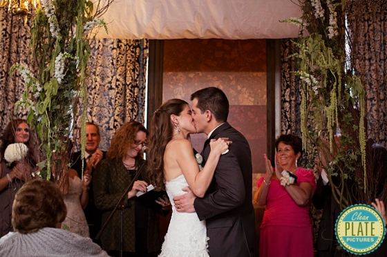 under the birch and curly willow arch  NJ Wedding Flowers Limelight Floral Design