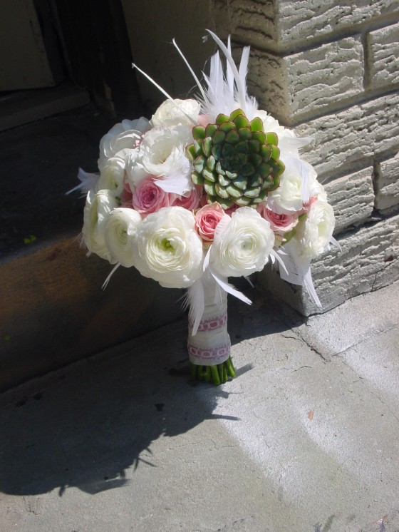 NJ Wedding Flowers Limelight Floral Design Bridal bouquet by Jersey City wedding florist