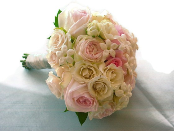 NJ Wedding Flowers Limelight Floral Design White and blush pink bridal bouquet wedding flowers by Limelight FLoral Design, Hoboken Florist Maritime Parc Jersey City Wedding