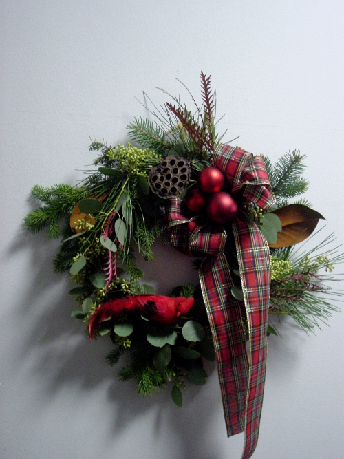 Christmas Wreath class Limelight Floral Design Hoboken NJ florist Jersey CIty