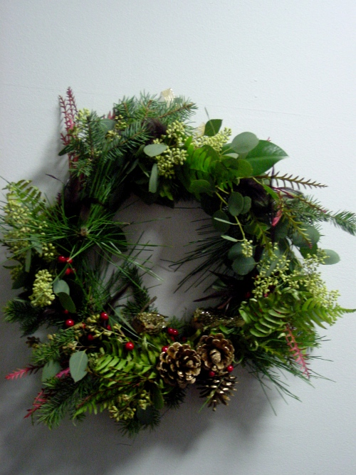 Christmas Wreath class Limelight Floral Design Hoboken NJ florist