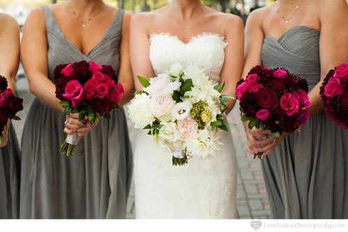 NJ Wedding Flowers Limelight Floral Design Bridal and bridesmaids bouquets by Limelight Floral design hoboken NJ