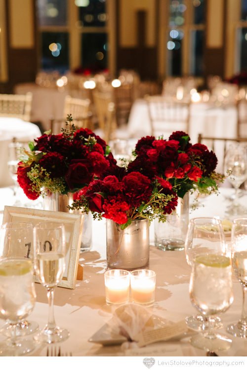 NJ Wedding Flowers Limelight Floral Design Liberty House Restaurant wedding black velvet flowers by Limelight floral design Hoboken jersey city florist