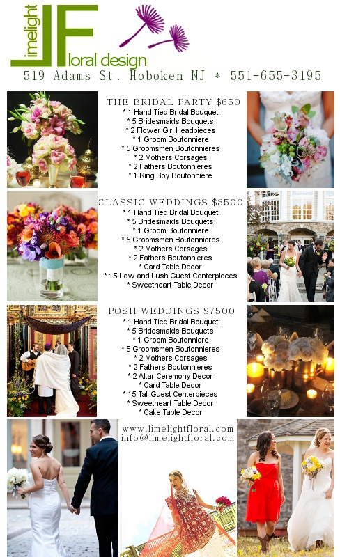 2012-2013 Wedding Packages