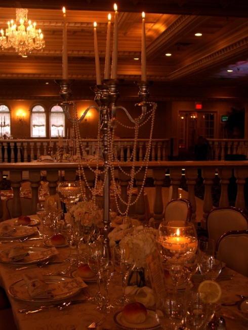 Limelight Floral Design hoboken jersey city  rental candelabras at Nanina's in the Park wedding