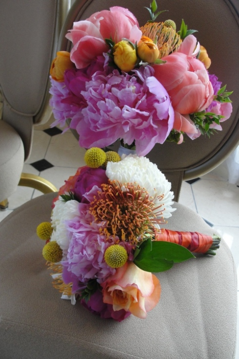 Limelight Floral Design wedding bouquet Indian wedding peonies and ranunculus Hoboken Jersey City flowers