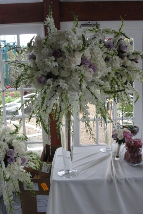 Limelight Floral Design Hoboken jersey City wedding florist at Liberty house restaurant wedding decor