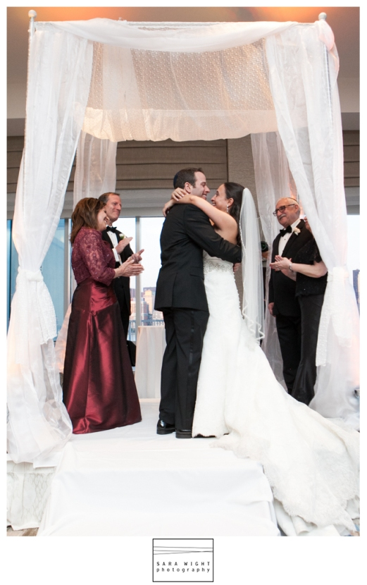 Jersey City Jewish Chuppha wedding ceremony by Limelight Floral Design