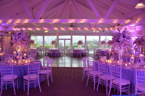 Liberty House Restaurant Wedding Flowers Tented reception