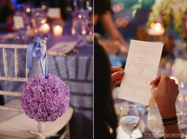 Lavender carnation pommander at Liberty House Restaurant Wedding Flowers