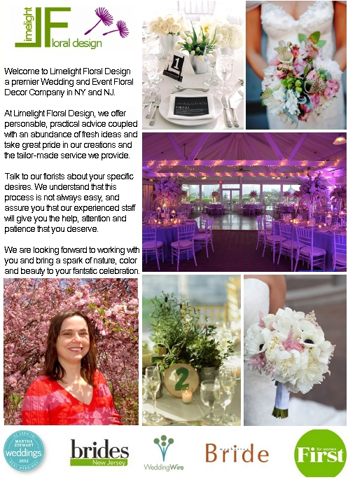 Limelight Floral Design - Jersey City Hoboken NJ wedding florist Weddings, flowers, florist