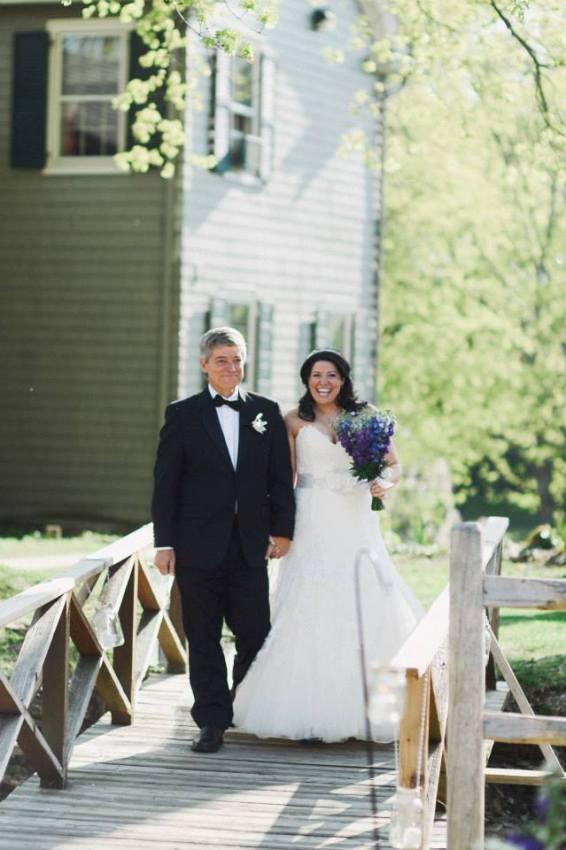 Bridal bouquet flowers  at wedding in Hope NJ  by Limelight Floral Design hoboken jersey city wedding florist Larkspur bouquet