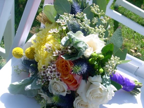 Local farm flowers in Hope NJ for wedding by Limelight Floral design, Hoboken NJ florist