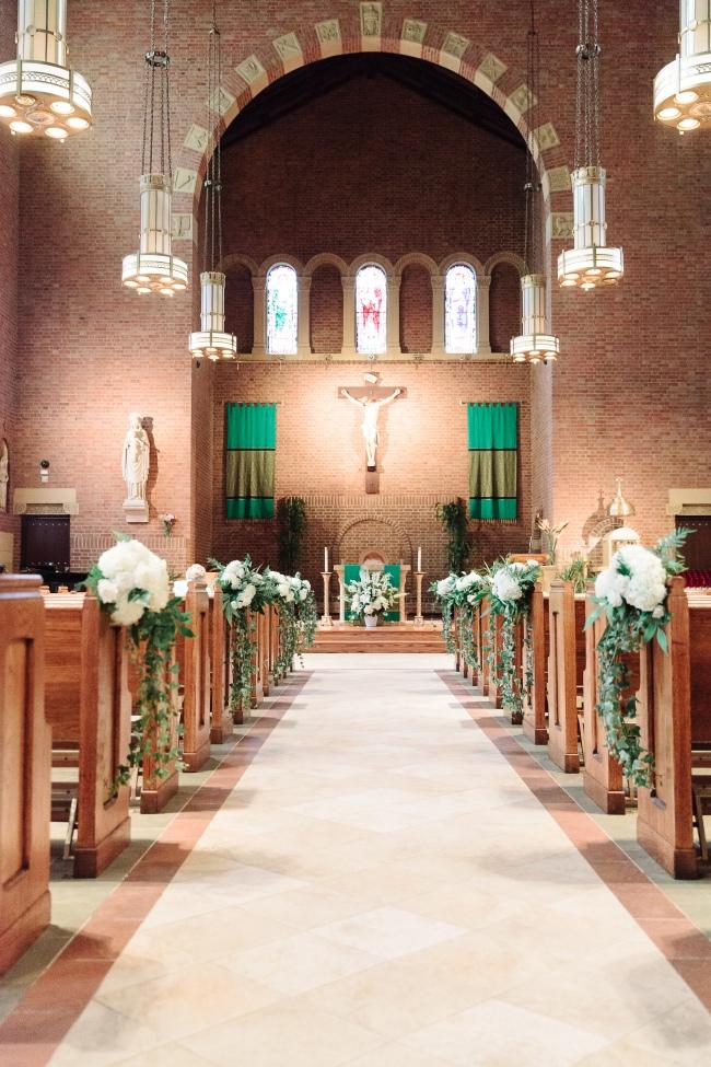 Pew arrangements wedding hoboken nj