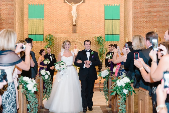 Pew arrangements wedding