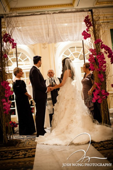 Branches and orchids chuppah