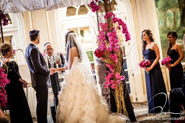 Chuppah pink by limelight floral design