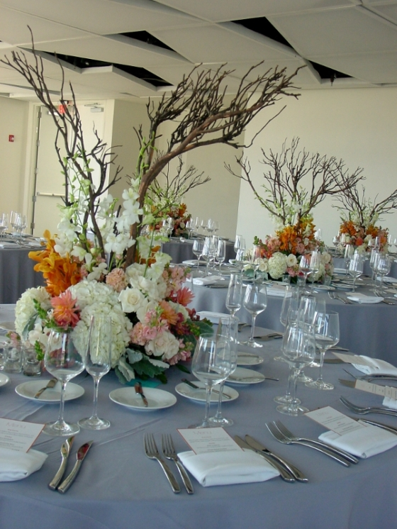 Wedding flowers Jersey City Hoboken NJ Maritime Parc Restaurant